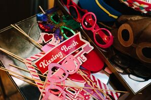 Pink and Red Photo Booth Props