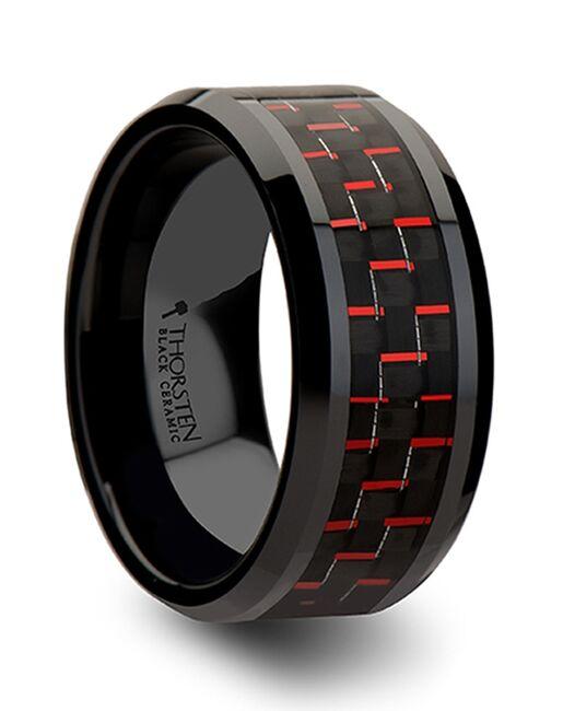 Mens Tungsten Wedding Bands C274-BRCF Tungsten Wedding Ring