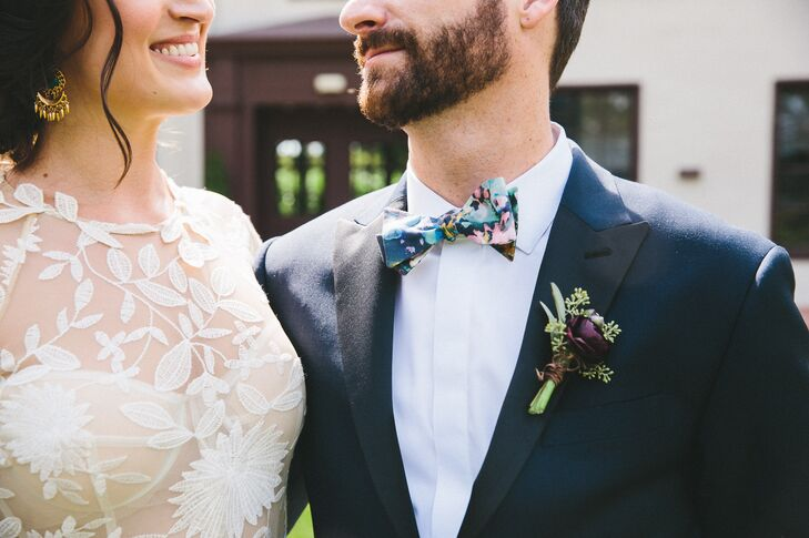 Bright Painterly Bow Tie