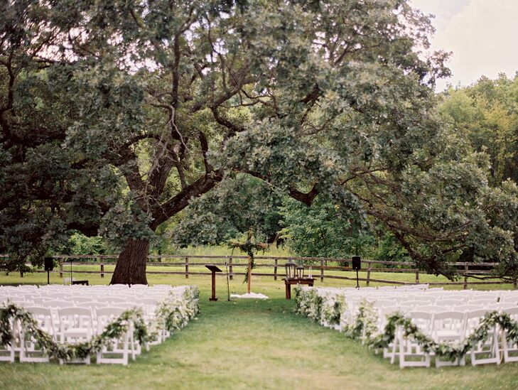 Outdoor Ceremony at Mayowood Stone Barn