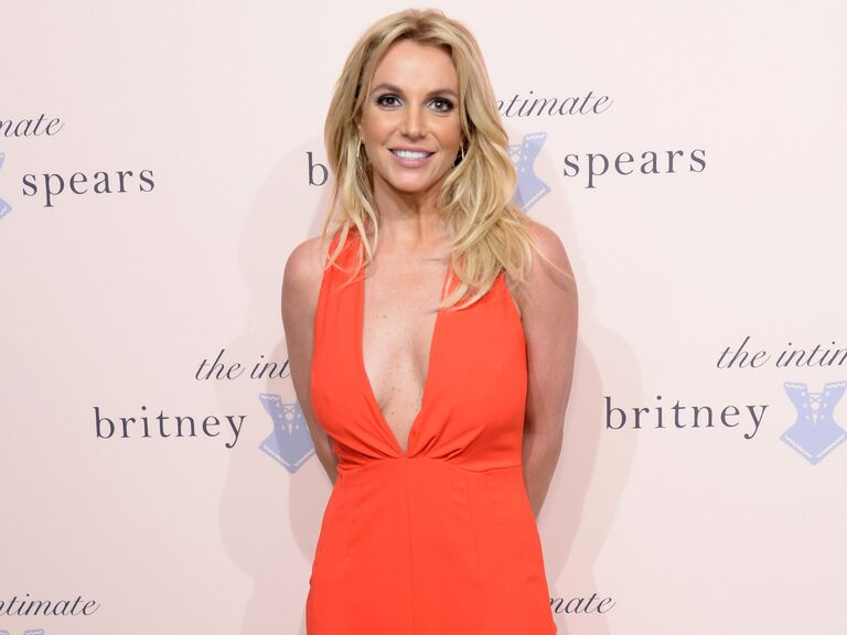 Britney Spears poses at an event