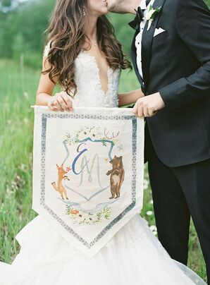 Whimsical Banner with Custom Monogram