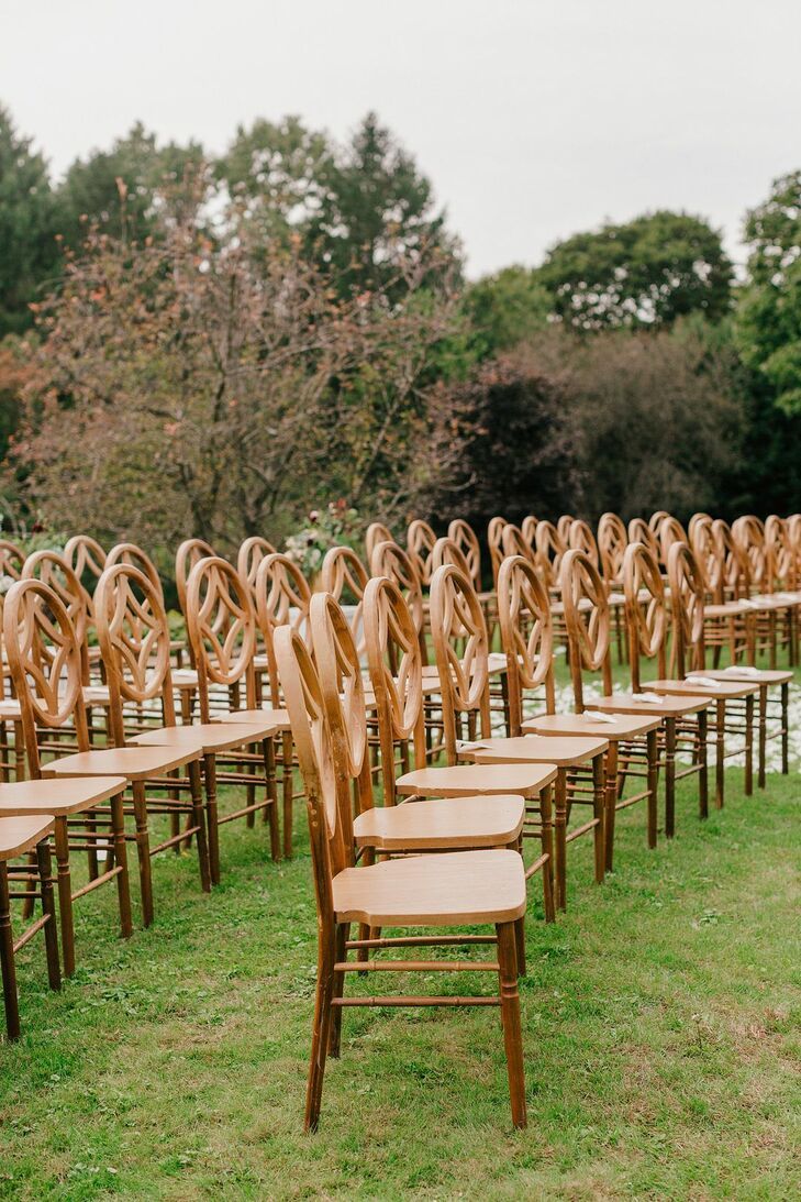 Wooden Chairs for Estate Wedding in Western Michigan