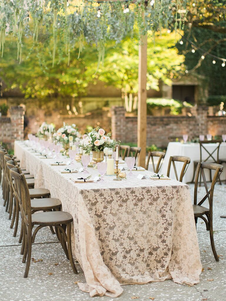 Outdoor banquet table