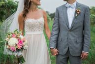 """It was all about simplicity for Megan and Derek Cole's summer nuptials in Berrien Springs, Michigan. """"Neither of us wanted the attention and hoopla th"""