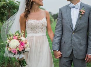 "It was all about simplicity for Megan and Derek Cole's summer nuptials in Berrien Springs, Michigan. ""Neither of us wanted the attention and hoopla th"