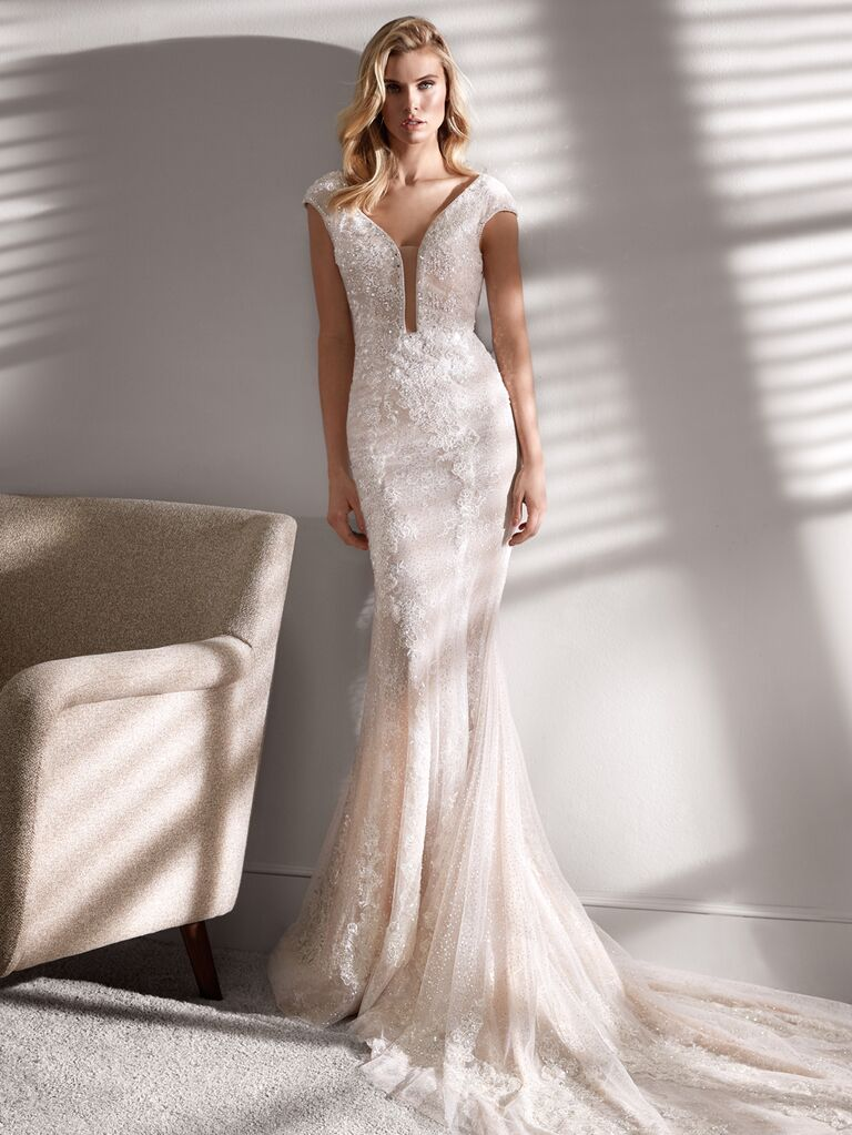 Nicole Couture Spring 2020 Bridal Collection fit-and-flare lace wedding dress