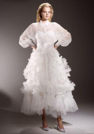 Viktor&Rolf Mariage ORGANZA SWIRL SHIRT TEA LENGTH Ball Gown Wedding Dress
