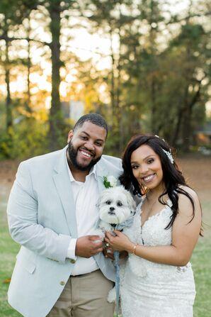 Couple with Dog at Minimony in Columbia, South Carolina