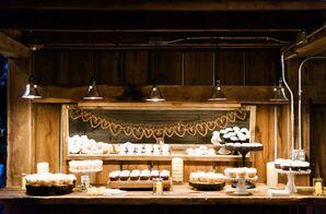 Rustic Wood Dessert Table