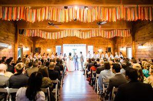 Indoor Wedding Ceremony at the Barn at Valhalla