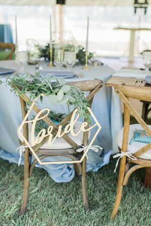 Custom Bride Chair Sign