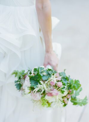 Rustic Pink and Ivory Bridal Bouquet