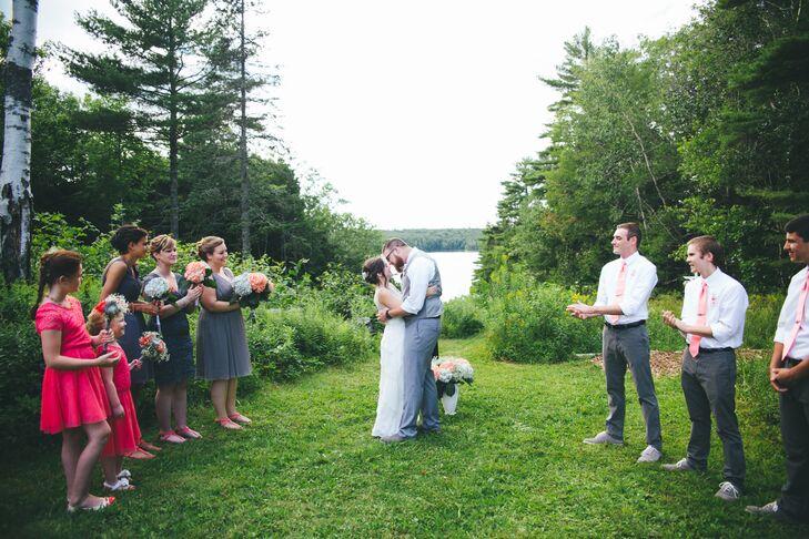 Outdoor Wedding Ceremony in Boothbay, Maine