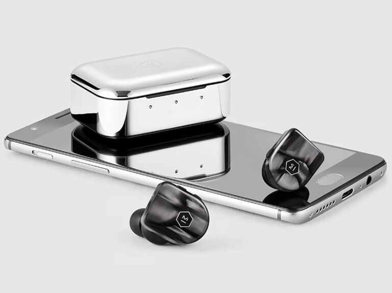 True wireless earphones in black pearl 30th anniversary gift