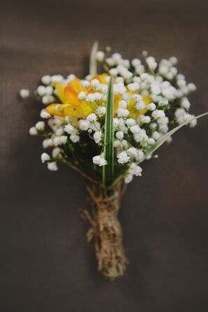 Baby's Breath and Yellow Floral Boutonnieres