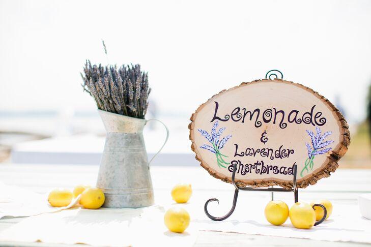Lavender and Lemonade Dessert Sign