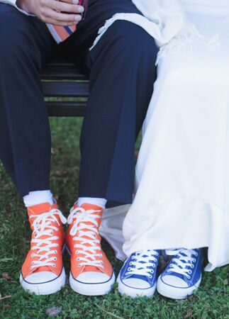 Brides who didn't wear heels |Suzuran Photography | blog.theknot.com