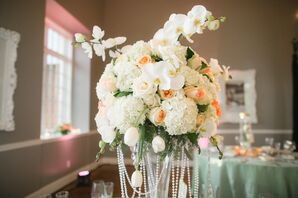 Hydrangea, Tulip and Orchid Centerpieces