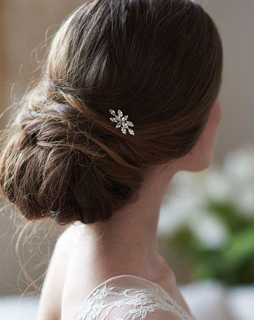 Dareth Colburn Nova Crystal Hair Pin (TP-2834) Silver Pins, Combs + Clip