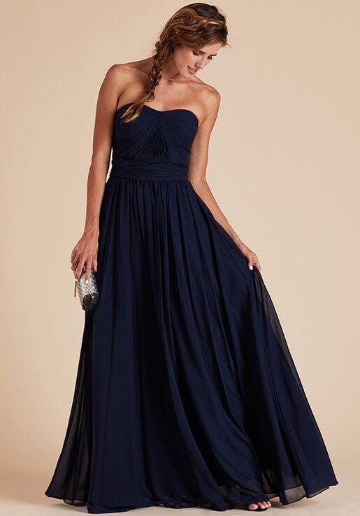 Birdy Grey Grace Convertible Dress in Navy Strapless Bridesmaid Dress