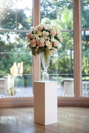 Tall Neutral Rose Aisle Decorations