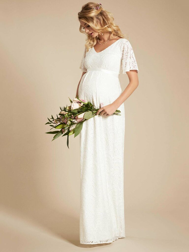 4ff32084619 14 Maternity Wedding Dresses You ll Love