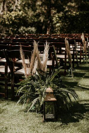 Pampas Grass Aisle Marker Arrangements