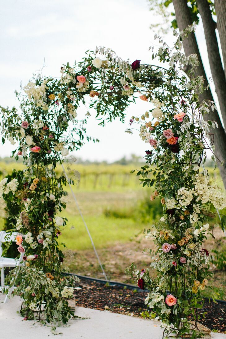 Garden-Inspired Floral Wedding Arch