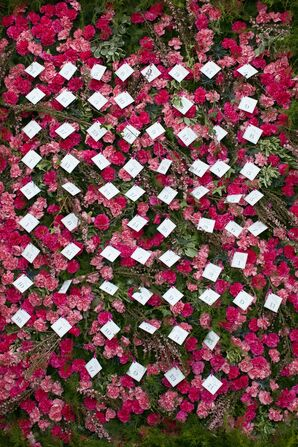 Pink Flower Escort Cards