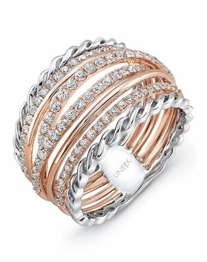 Uneek Fine Jewelry The Teneriffe Diamond Band/LVBW031RW Gold Wedding Ring