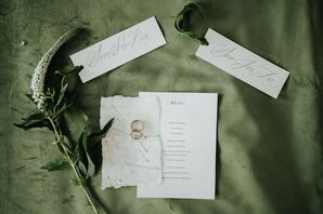 Elegant and Simple Stationery for North Carolina Wedding