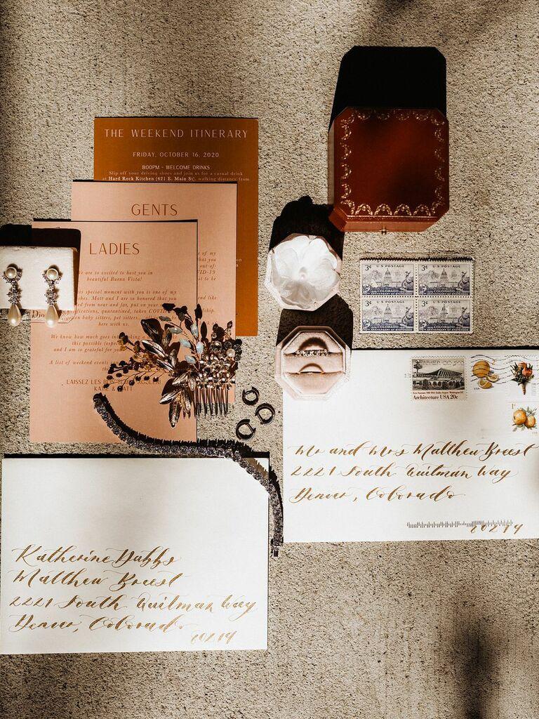 how to choose wedding stationery design retro