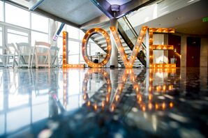 Love Sign At Reception Hall
