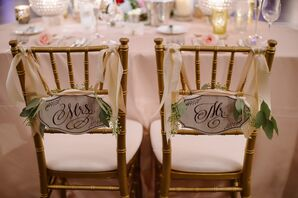 Hand-Lettered Wooden Sweetheart Chair Signs