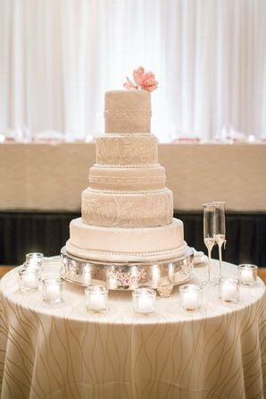 Lace Inspired Wedding Cake