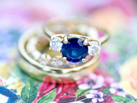 Nontraditional non-diamond engagement ring