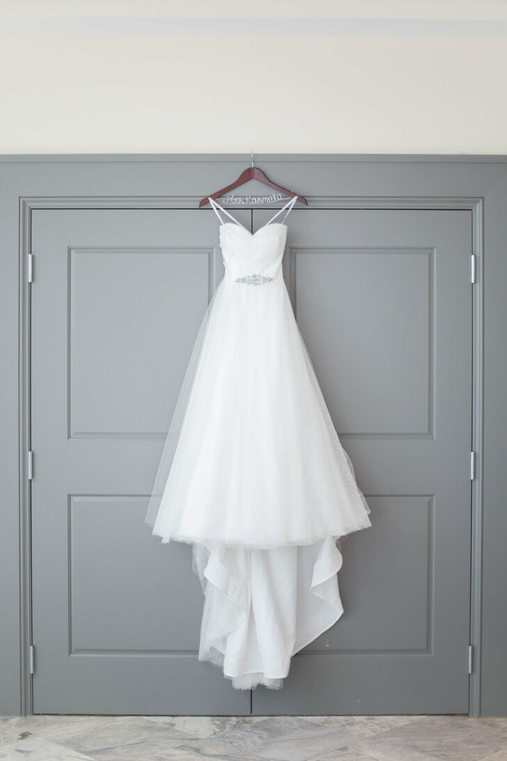 Strapless A Line Gown