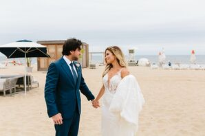 Romantic Beach Couple at Gurney's Montauk Resort in New York