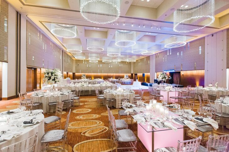 Glamorous White, Silver and Gold Reception
