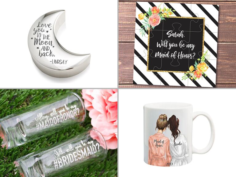 will you be my maid of honor proposal gifts