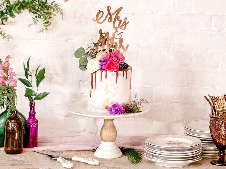 Single-tier drip cake