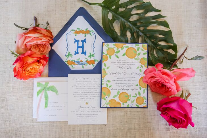 Modern Invitations with Colorful Watercolor Design