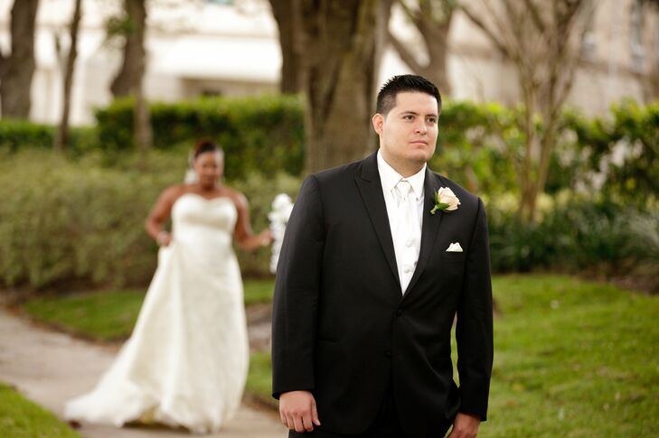 Black Wedding Suit And White Tie