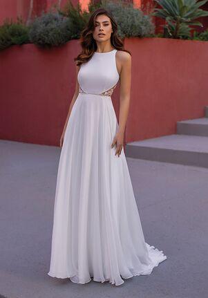 WHITE ONE ESSENTIALS EUPHRASIA Ball Gown Wedding Dress