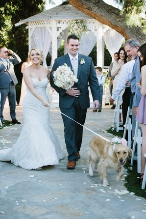 Bride and Groom Ceremony Exit With Dog