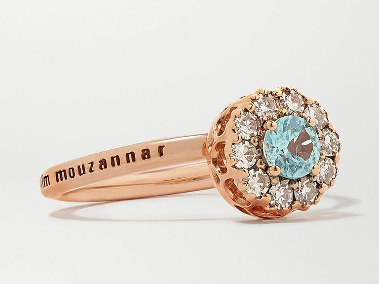 paraiba sapphire engagement ring