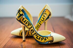 Bright Yellow Hufflepuff-Themed Pumps