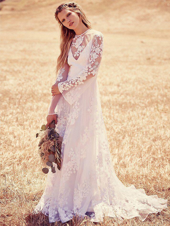 Long Sleeve Lace Wedding Dress 4 000 Freepeople