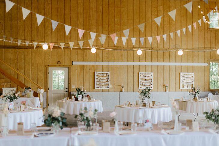 Simple Romantic Wedding Reception At Bieker Farms